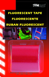"Trimbrite Red Flourescent Tape (3/4"" x 4')"