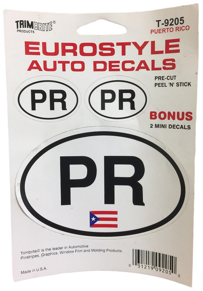 Image of Trimbrite Self-Stick Euro-Style Puerto Rico Stickers