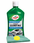 Turtle Wax Carnauba Cleaner Wax (16 oz.), Microfiber Cloth & Foam Pad Kit