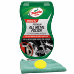 Turtle Wax® Premium Grade Chrome & Metal Polish, Microfiber Cloth & Foam Pad Kit