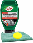 Turtle Wax Premium Rubbing Compound (18 oz), Microfiber Cloth & Foam Pad Kit