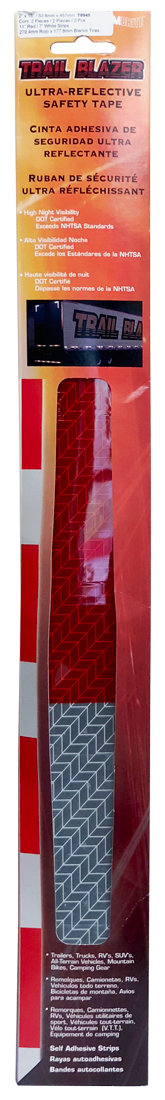 "Image of Ultra-Reflective 2"" x 18"" Red & White Safety Tape 2 Pack"