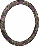 Wild Wood Camouflage Purple Leaf Steering Wheel Cover