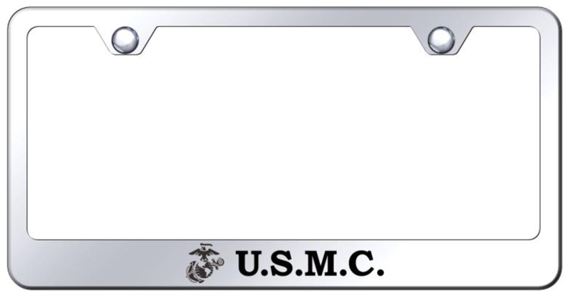 Us Marine Corp Laser Etched Stainless Steel License Plate Frame