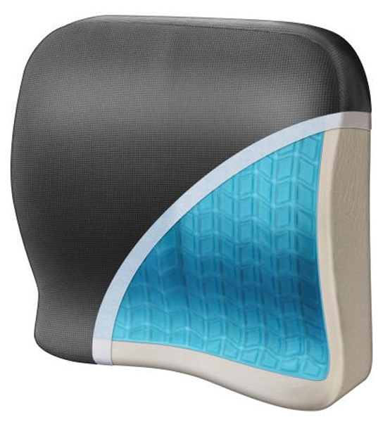 Image of Relax Fusion Lumbar Memory Foam & Cooling Gel Seat Cushion