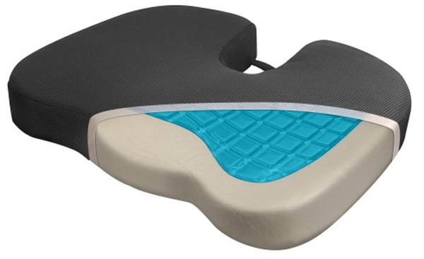 relax fusion coccyx memory foam cooling gel seat cushion wag9113. Black Bedroom Furniture Sets. Home Design Ideas