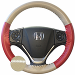 Wheelskins EuroPerf Two-Tone Genuine Leather Steering Wheel Cover