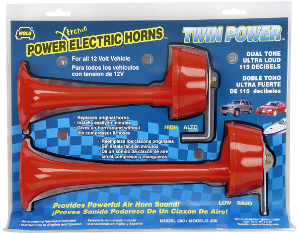 Wolo Twin Power Dual Tone Electric Horns