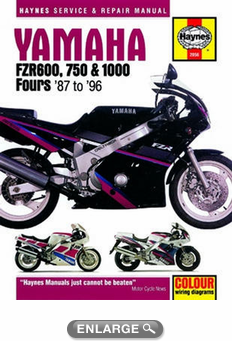 yamaha fzr600 750 and 1000 haynes repair manual 1987. Black Bedroom Furniture Sets. Home Design Ideas