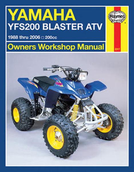 yamaha yfs200 blaster atv haynes repair manual 1988. Black Bedroom Furniture Sets. Home Design Ideas