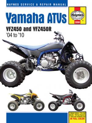 Image of Yamaha YFZ450 & YFZ450R ATVs Haynes Repair Manual (2004-2010)