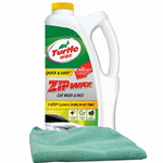Zip Wax Liquid Car Wash (64 oz.) & Microfiber Cloth Kit