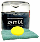 Zymol Ebony Black Wax (8 oz), Microfiber Cloth & Foam Pad Kit