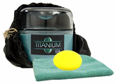 Zymol Titanium Estate Glaze Wax (8 oz), Microfiber Cloth & Foam Pad Kit