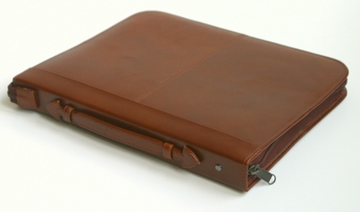"14""x17"" Executive Leather Presentation Case - Brown"