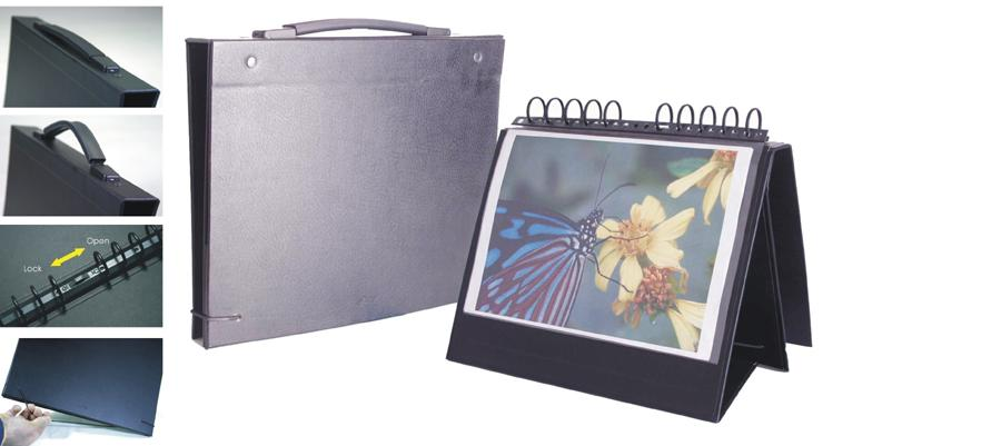 18x24 Display Book Easel Binder With Handle For Photography And Art