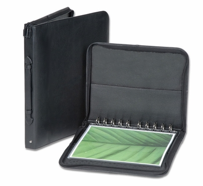 "8.5""x11"" Premium Leather Photography Portfolio Book / Presentation Case - Black"