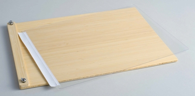 "LuxBind Instant Portfolio Book  for 11""x17"" Paper Stacks - Bamboo Clamp"