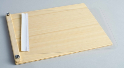 """LuxBind Instant Portfolio Book  for 8.5""""x11"""" Paper Stacks - Bamboo Clamp"""