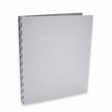 "Machina 11""x8.5"" Aluminum Screwpost Portfolio Book + 20 Archival Sheet Protectors"