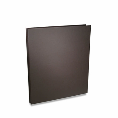 "Rossano 14""x11"" Synthetic Leather Screwpost Portfolio Book - Brown"