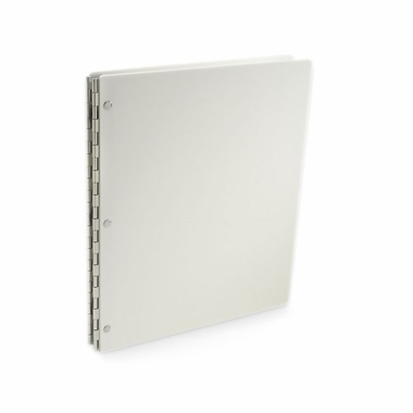 "Vista 11""x8.5"" Acrylic Screwpost Portfolio Book - Snow (White) + 20 Archival Sheet Protectors"