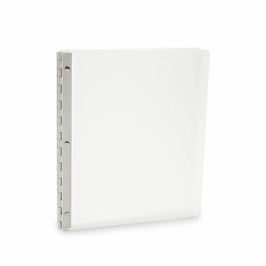 Vista Acrylic Screwpost Portfolio Book - Snow (White) + 20 Archival Sheet Protectors