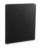 "Vista ""Onyx"" Matte Black Acrylic Screwpost Portfolios With 20 Included Sheet Protectors"