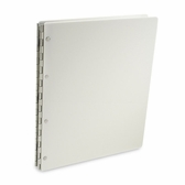"Vista ""Snow"" Opaque White Acrylic Screwpost Portfolios With 20 Included Sheet Protectors"