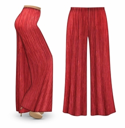 SALE! Customizable Cranberry Crinkle Satin Plus Size & Supersize Palazzo Pants - Capri's - Sizes Lg XL 1x 2x 3x 4x 5x 6x 7x 8x 9x