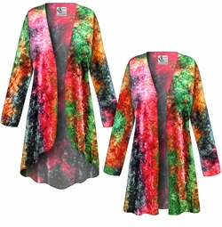SALE! Customizable CRUSH VELVET Tie Dye Print Plus Size & Supersize Jackets & Dusters - Sizes Lg XL 1x 2x 3x 4x 5x 6x 7x 8x 9x