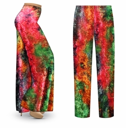 SALE! Customizable CRUSH VELVET Tie Dye Print Print Plus Size & Supersize Palazzo Pants - Tapered Pants - Sizes Lg XL 1x 2x 3x 4x 5x 6x 7x 8x 9x
