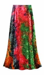 SALE! Customizable CRUSH VELVET Tie Dye Print Plus Size & Supersize Skirts - Sizes Lg XL 1x 2x 3x 4x 5x 6x 7x 8x 9x