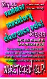 <center><b><font color=red>$22.99 to $29.99!!<br><font color=blue>While They Last!! <br>HELP! We're Overstocked!<br><font size=1 color=red>Order Over $50 & Get a Free Gift!</b></font>