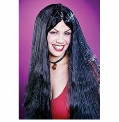 "SALE! 24"" Black Witch Wig Halloween Costume Accessory Black Wig"