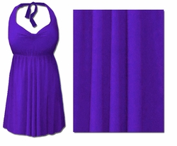 CLEARANCE! Purple Plus Size & Supersize Halter 2pc Swimdress 2x