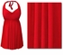 Red Plus Size & Supersize Halter 2pc Swimdress 0x 1x 2x 3x 4x 5x 6x 7x 8x
