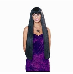 "SALE!  36"" Extra Long!  Black Witch Wig Halloween Costume Accessory Black Wig"