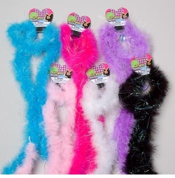 SOLD OUT! 72 Inch Marabou Feather Boa With Tinsel Trim or Real Feather Boa's!