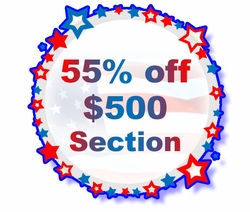55% off orders over $500 in THIS SECTION ONLY! - Code: TS55MD500