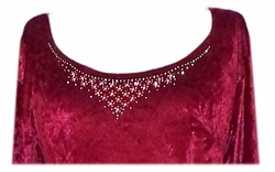 Add a Rhinestone Neckline (for round necklines only)!