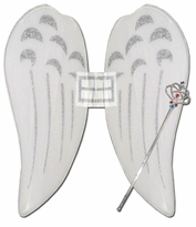 SALE!  Angel / Fairy Costume Wing Set with Sparkly Wand
