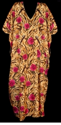 SOLD OUT! Animal Print Pink Roses Plus Size & Supersize Caftan Dress 1x to 6x