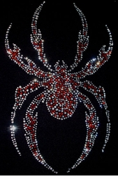 SALE! Awesome Black or Red Crystal Rhinestud Rhinestones Spider Plus Size T-Shirts S M L XL 2xl 3xl 4x 5x 6x 7x 8x