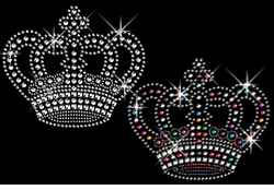 SALE! Awesome Rhinestud Rhinestone Silver or multi-Color Sparkly Crown Plus Size & Supersize T-Shirts S M L XL 2x 3x 4x 5x 6x 7x 8x (All Colors)