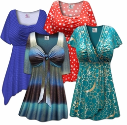 Babydoll Style Tops<br>Plus Size & Supersize 0x to 9x