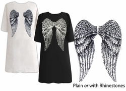 SOLD OUT! FINAL SALE! Back Angel Wings Plus Size & Supersize T-Shirts 5x