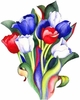 Beautiful Tulip Bouquet Plus Size & Supersize T-Shirts S M L XL 2x 3x 4x 5x 6x 7x 8x  (Lights Only)