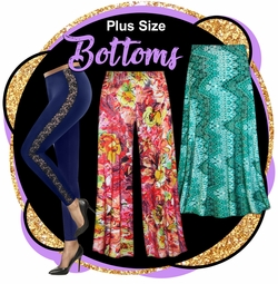 CLEARANCE PLUS SIZE BOTTOMS