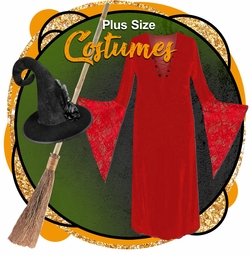 CLEARANCE PLUS SIZE COSTUMES/ACCYS